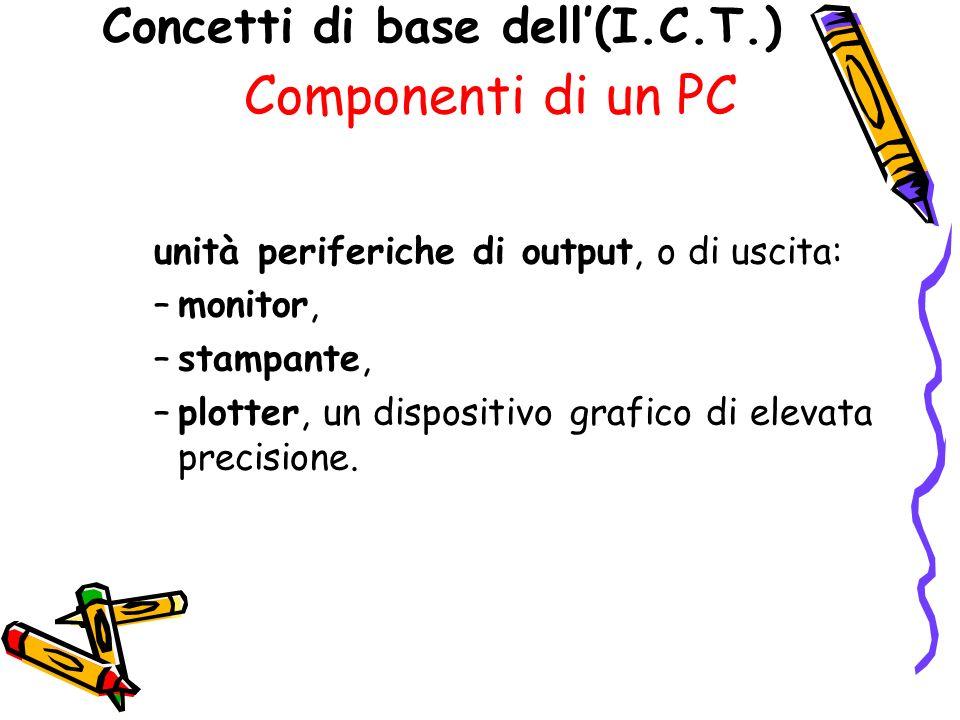 Concetti di base dell'(I.C.T.)