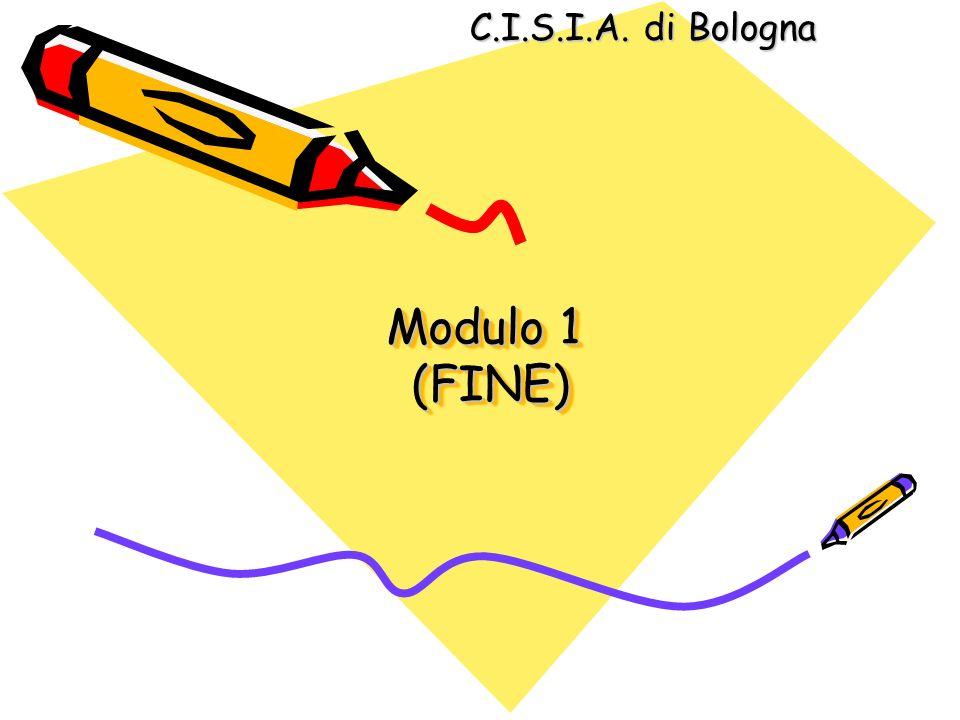 C.I.S.I.A. di Bologna Modulo 1 (FINE)