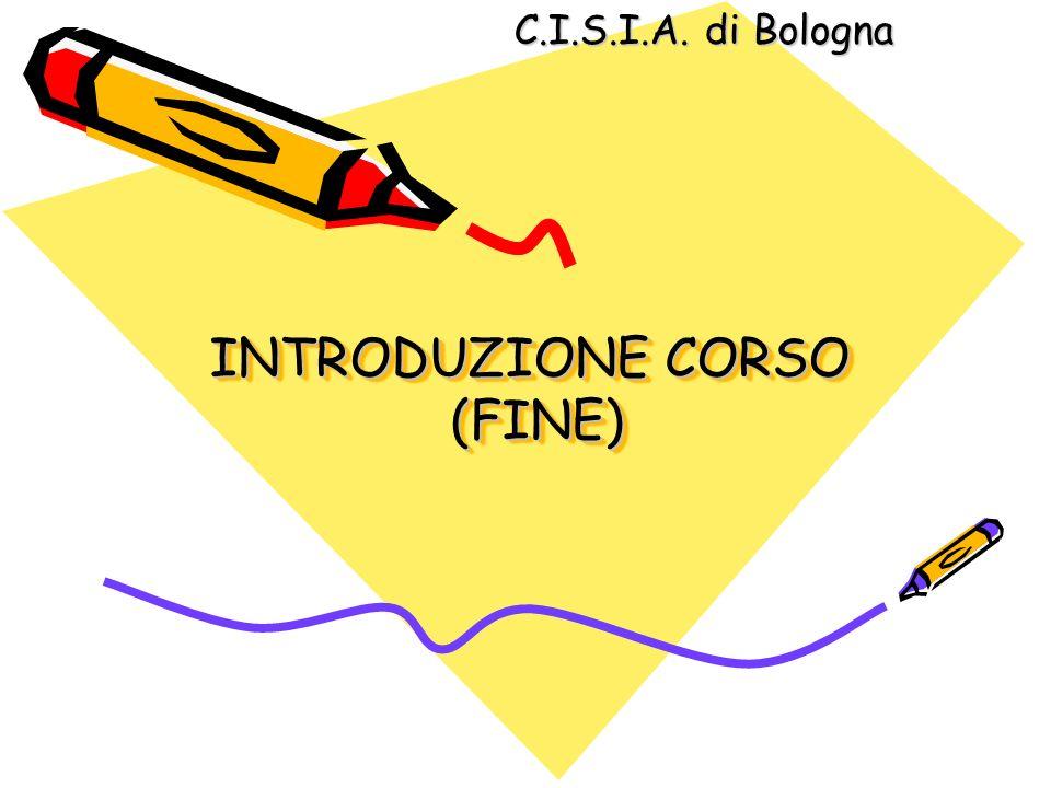 INTRODUZIONE CORSO (FINE)