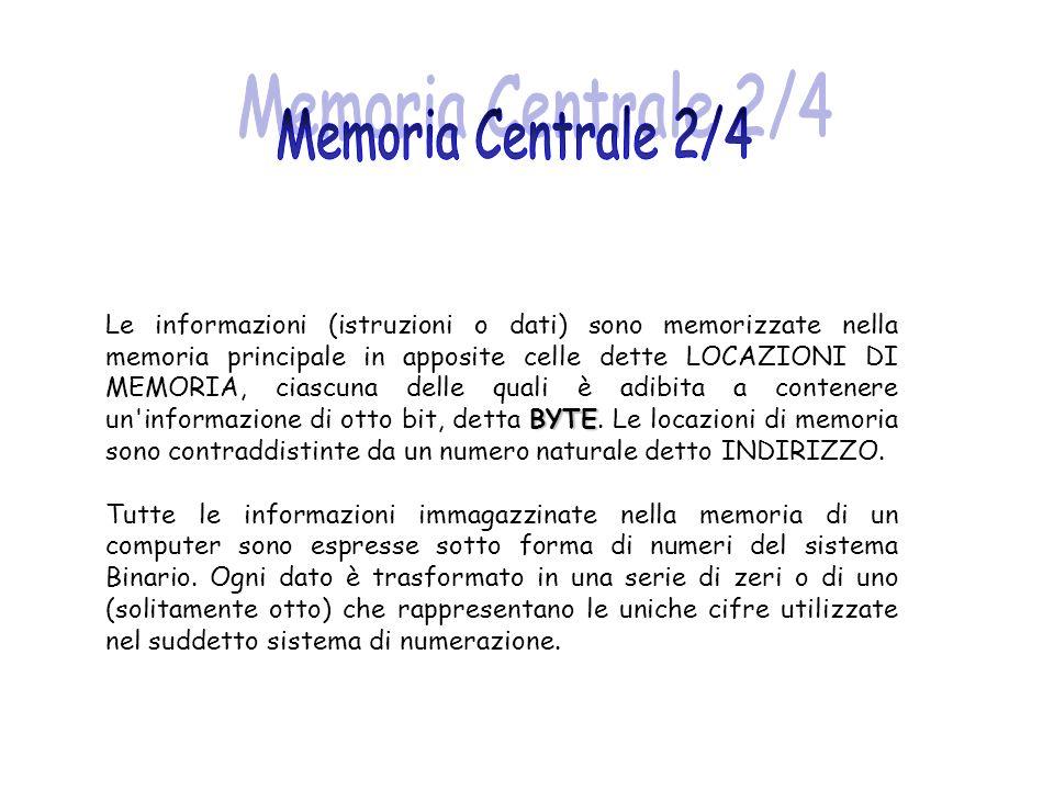 Memoria Centrale 2/4