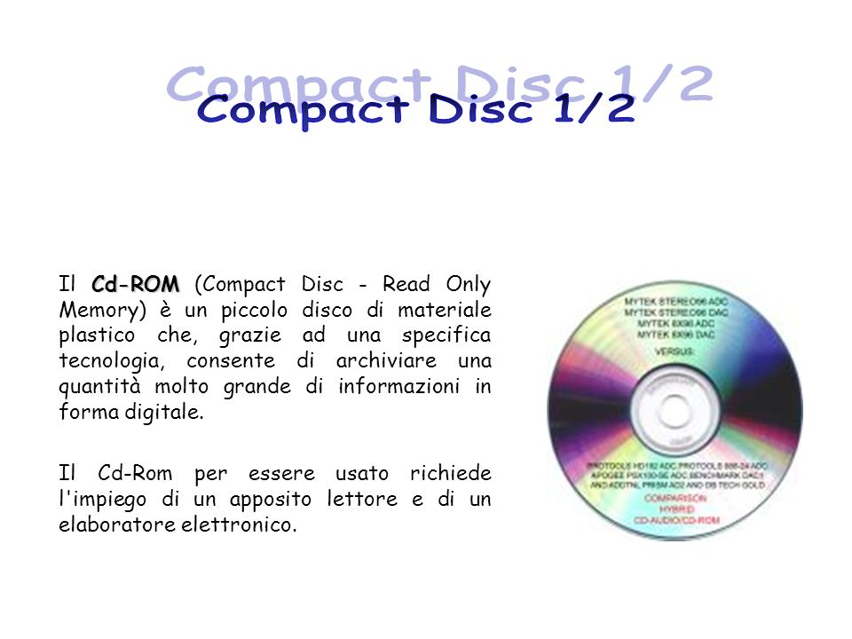 Compact Disc 1/2