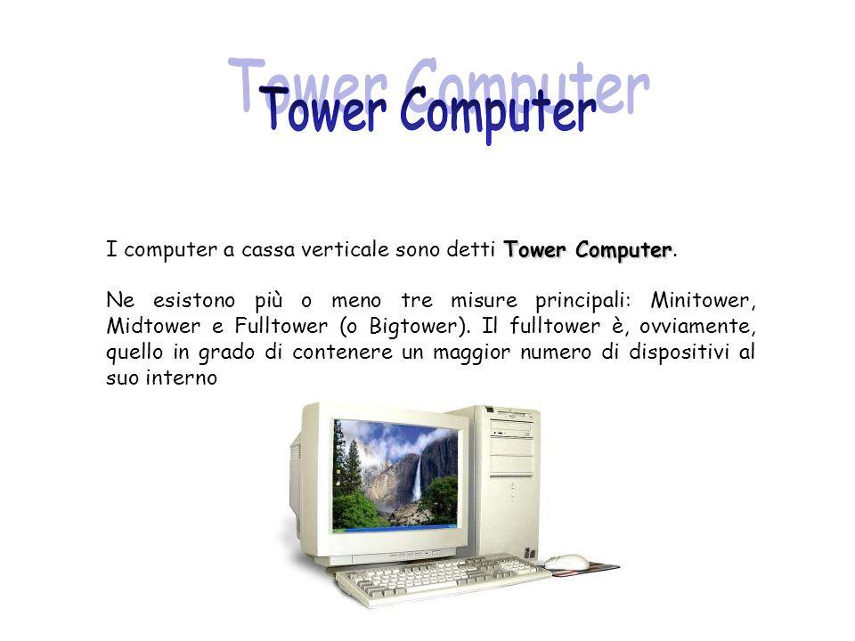 Tower Computer I computer a cassa verticale sono detti Tower Computer.