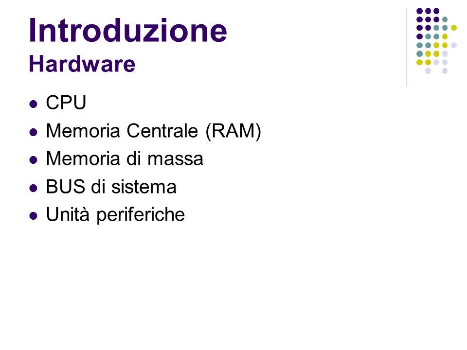 Introduzione Hardware