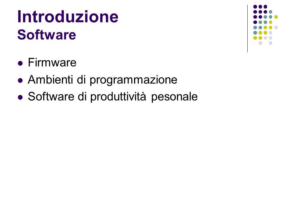 Introduzione Software