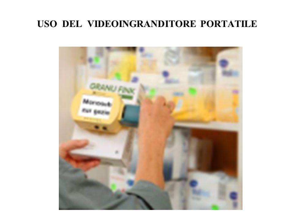 USO DEL VIDEOINGRANDITORE PORTATILE