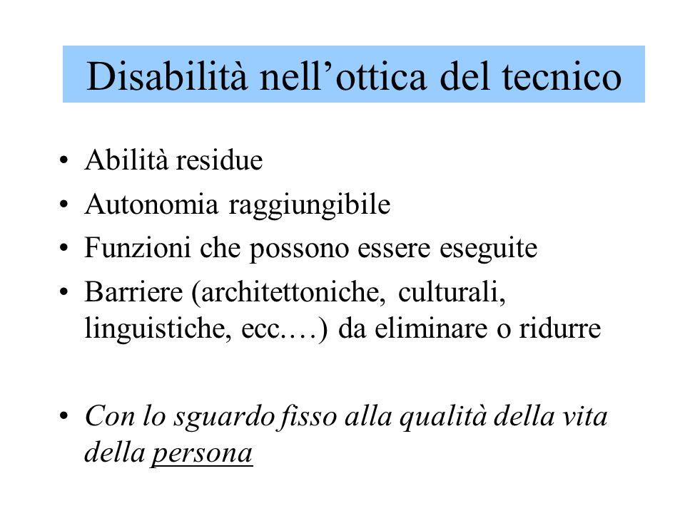 Disabilità nell'ottica del tecnico