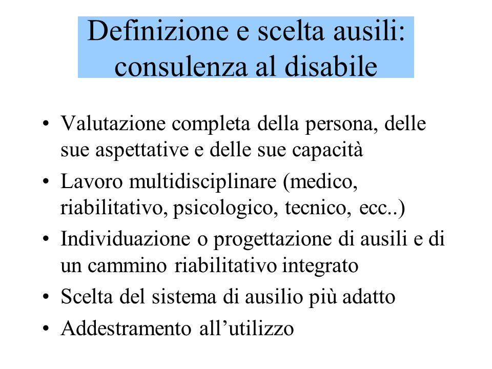 Definizione e scelta ausili: consulenza al disabile