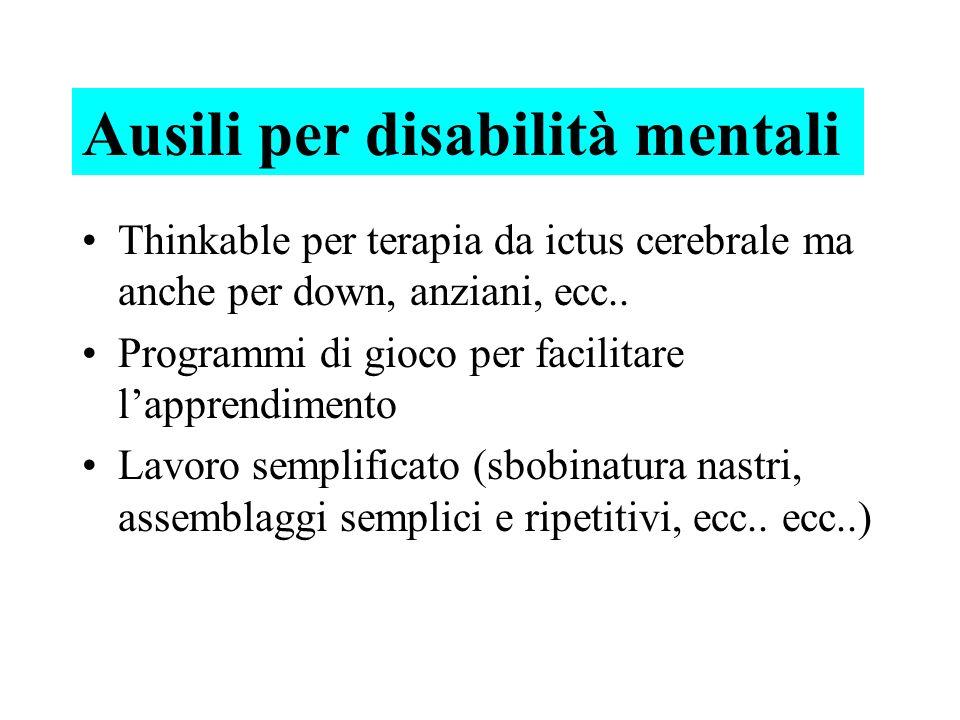 Ausili per disabilità mentali