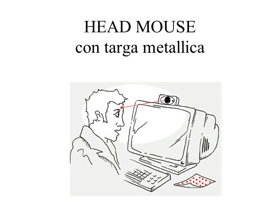 HEAD MOUSE con targa metallica