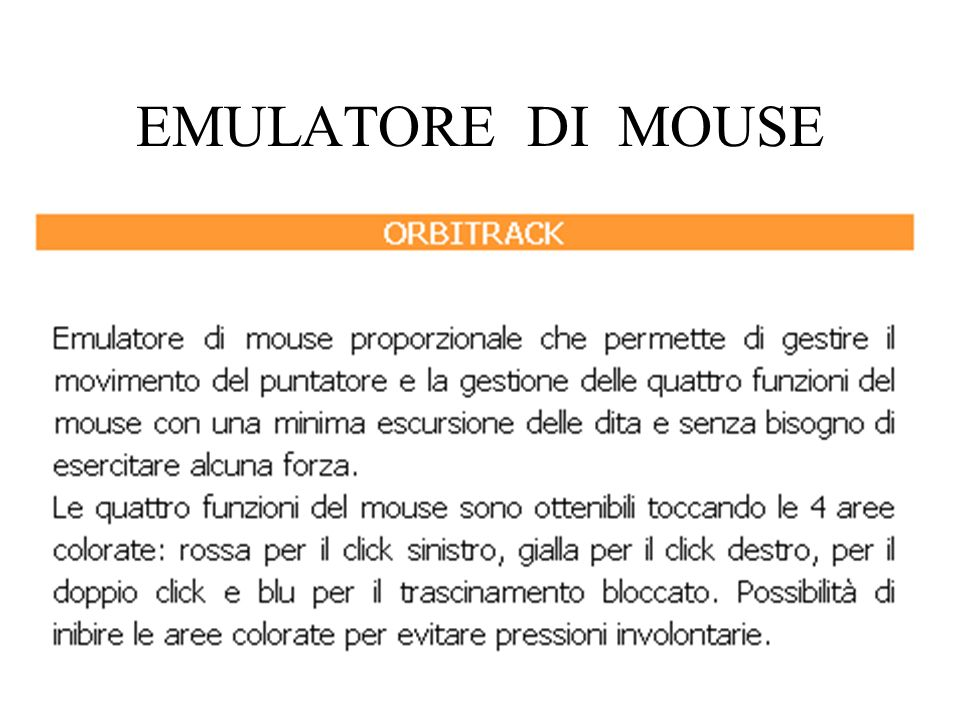 EMULATORE DI MOUSE