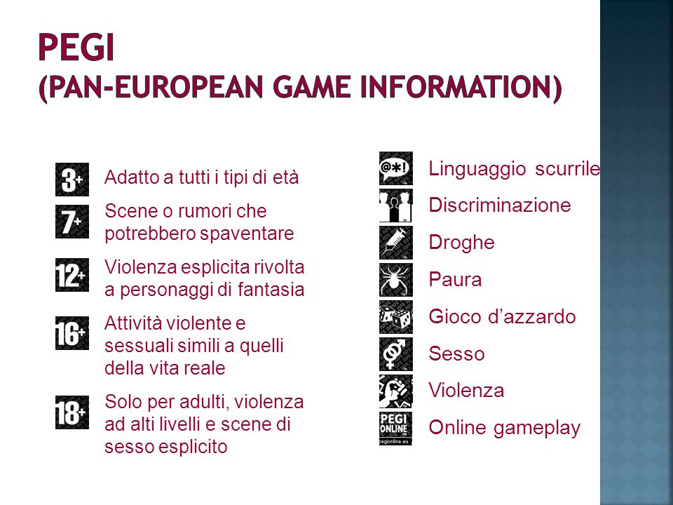 PEGI (PAN-EUROPEAN GAME INFORMATION)