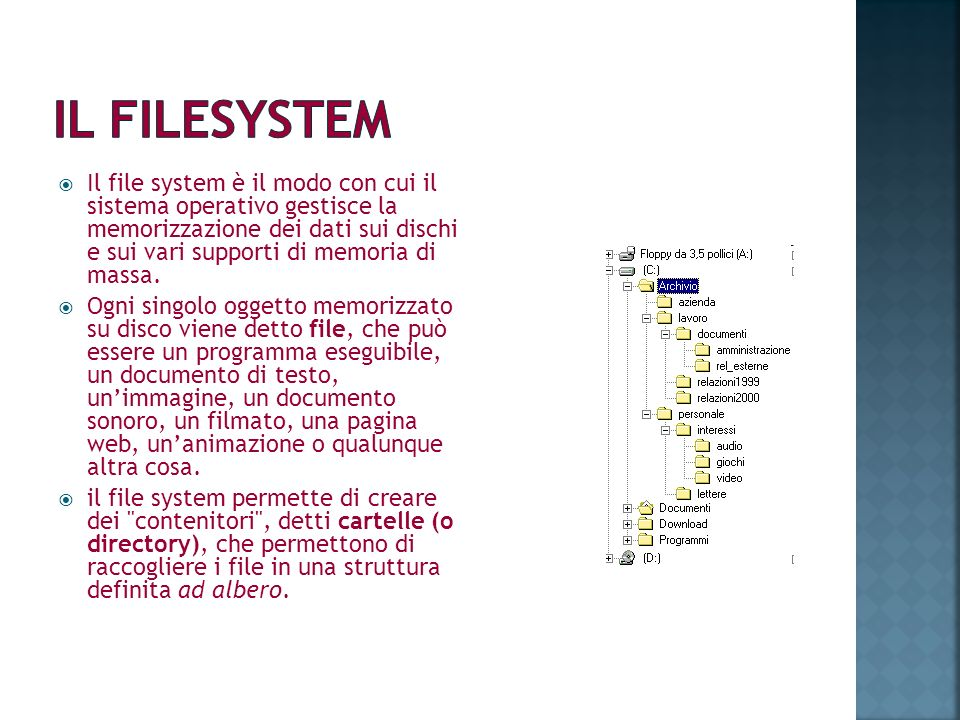 IL FILESYSTEM