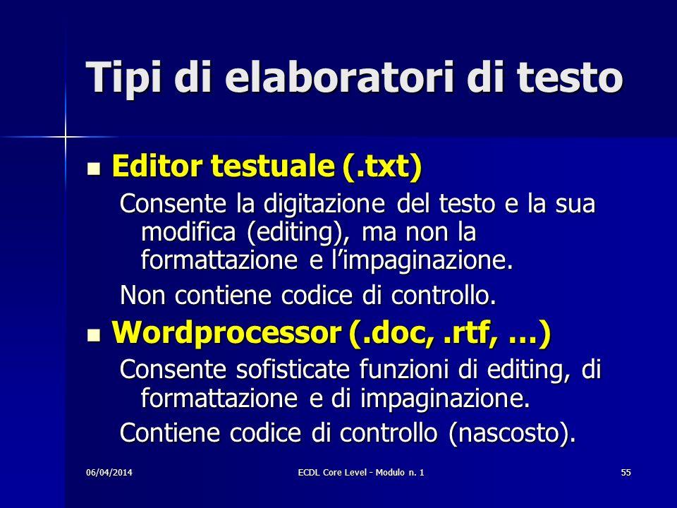 Tipi di elaboratori di testo