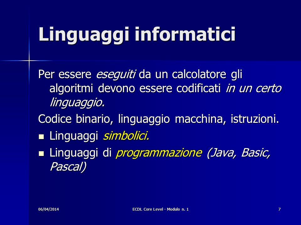 Linguaggi informatici