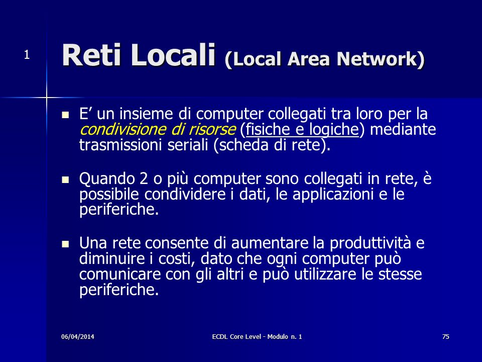Reti Locali (Local Area Network)