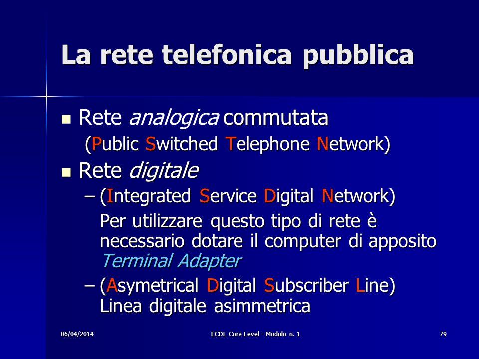 La rete telefonica pubblica