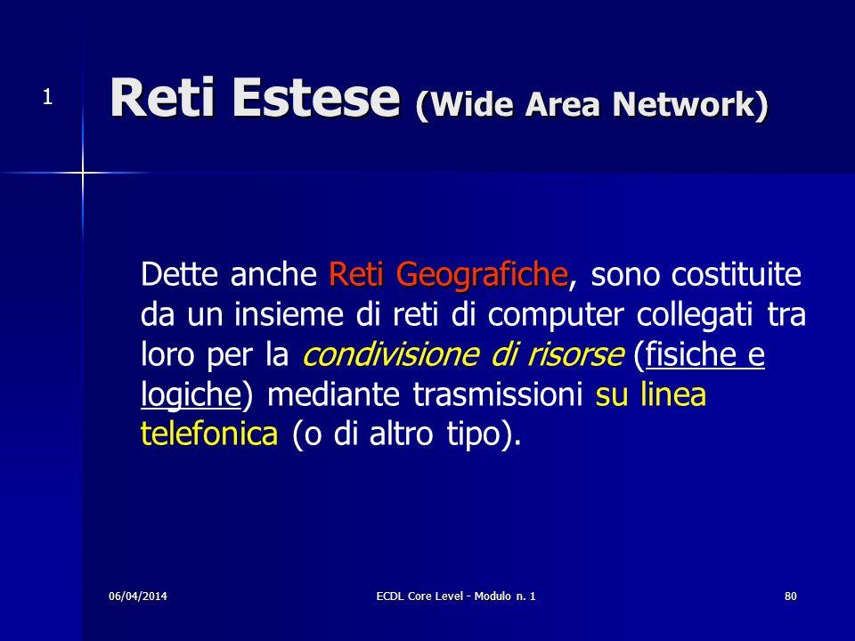 Reti Estese (Wide Area Network)