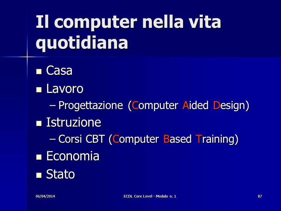 Il computer nella vita quotidiana