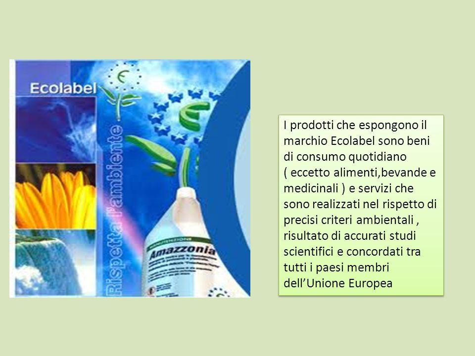 I prodotti che espongono il marchio Ecolabel sono beni di consumo quotidiano