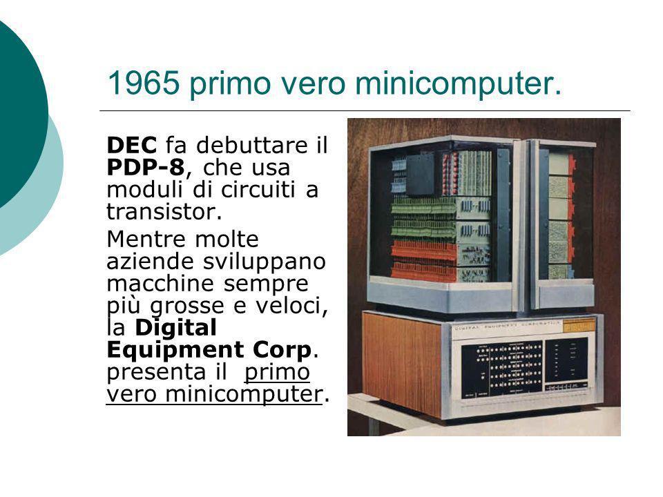1965 primo vero minicomputer.