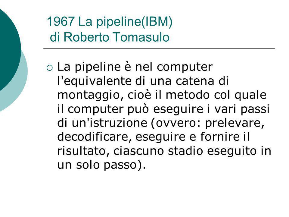 1967 La pipeline(IBM) di Roberto Tomasulo