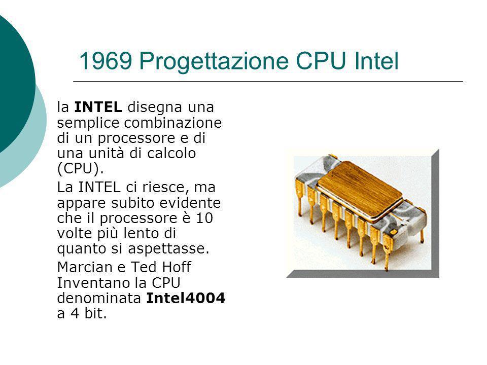 1969 Progettazione CPU Intel