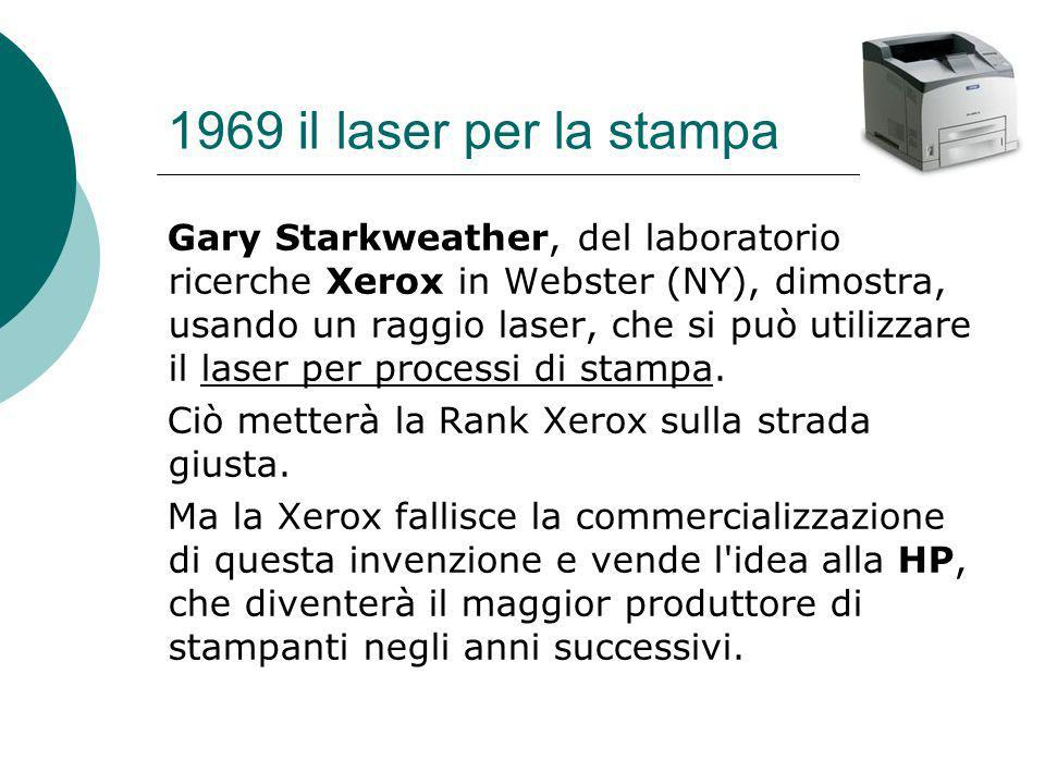 1969 il laser per la stampa