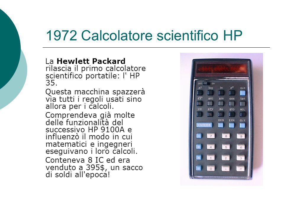 1972 Calcolatore scientifico HP