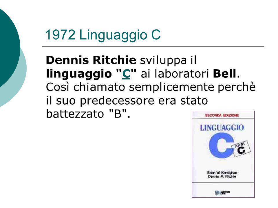 1972 Linguaggio C