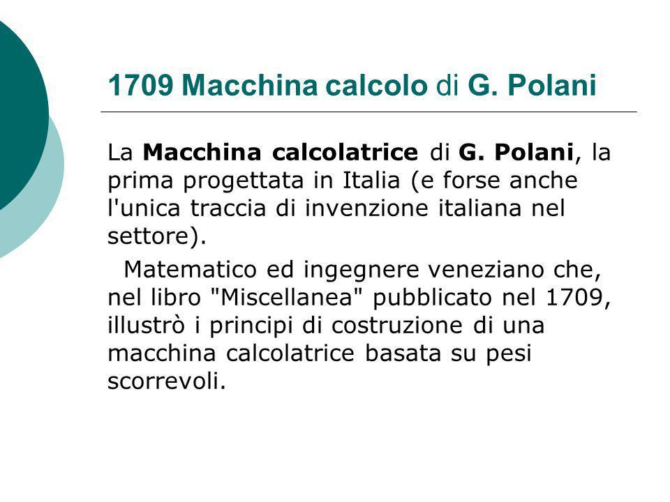 1709 Macchina calcolo di G. Polani