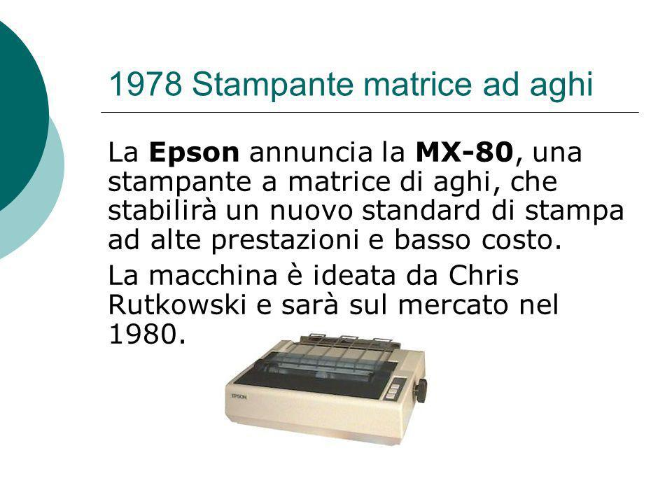 1978 Stampante matrice ad aghi