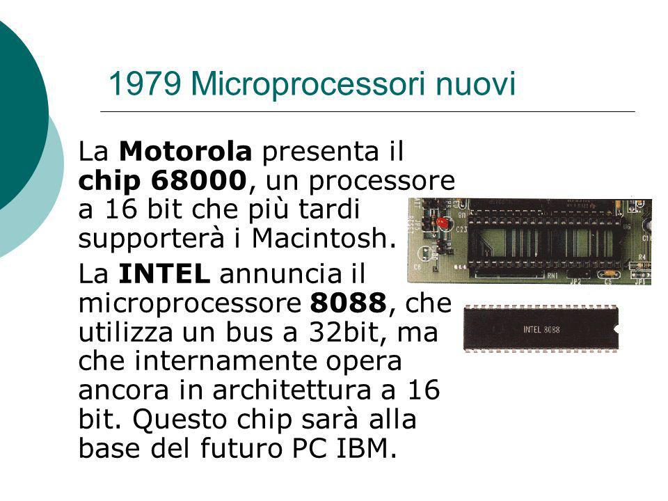 1979 Microprocessori nuovi