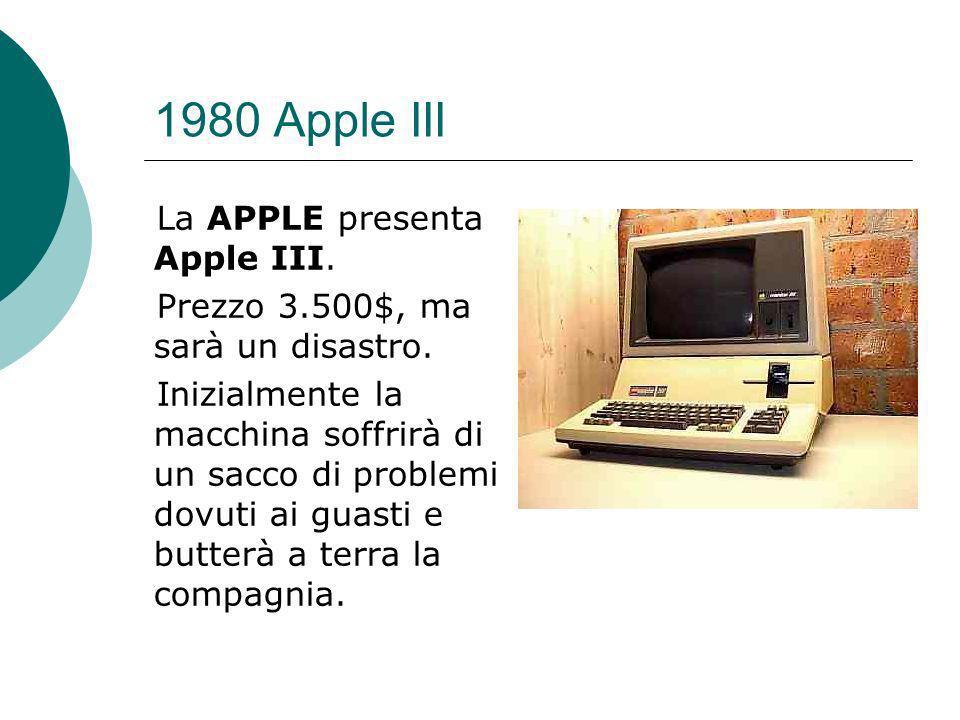 1980 Apple III La APPLE presenta Apple III.