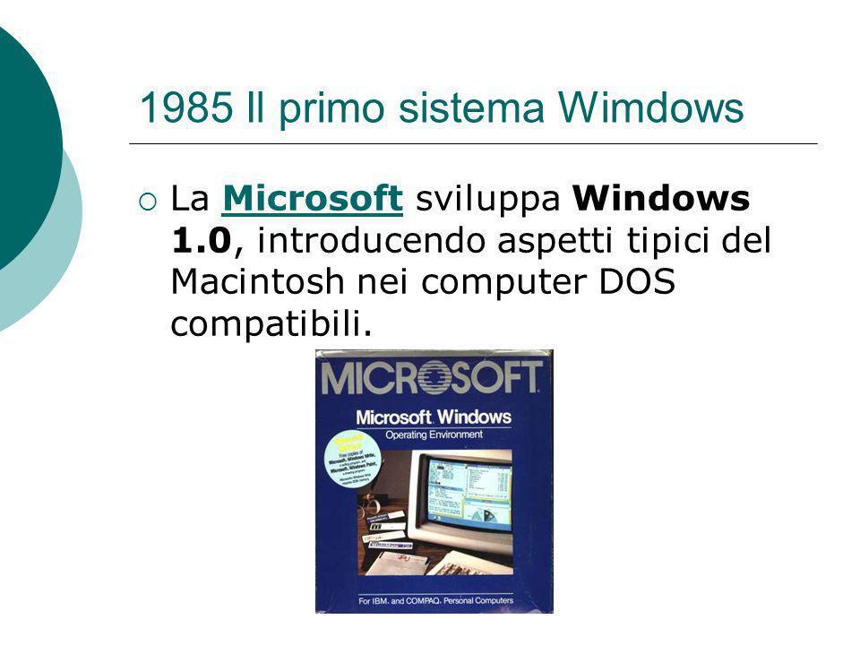 1985 Il primo sistema Wimdows