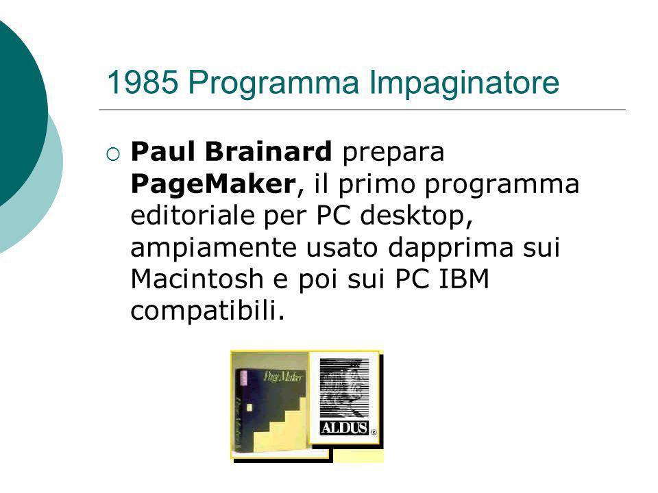 1985 Programma Impaginatore
