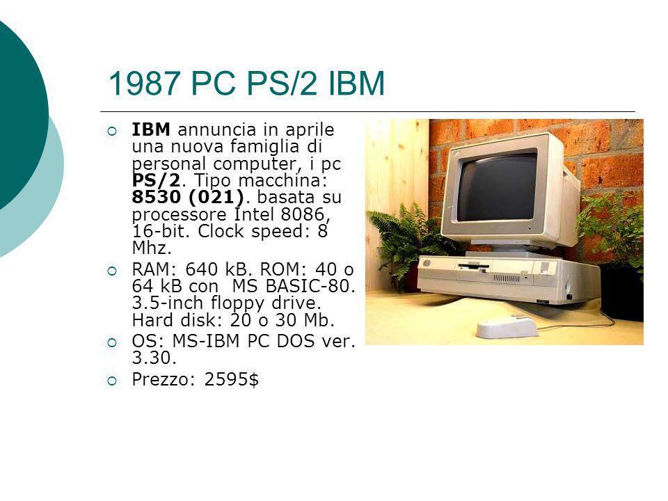 1987 PC PS/2 IBM