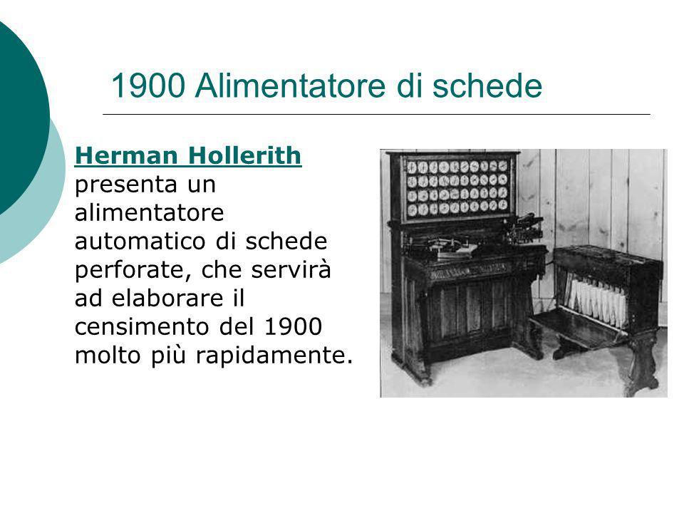 1900 Alimentatore di schede