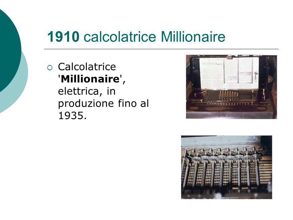 1910 calcolatrice Millionaire