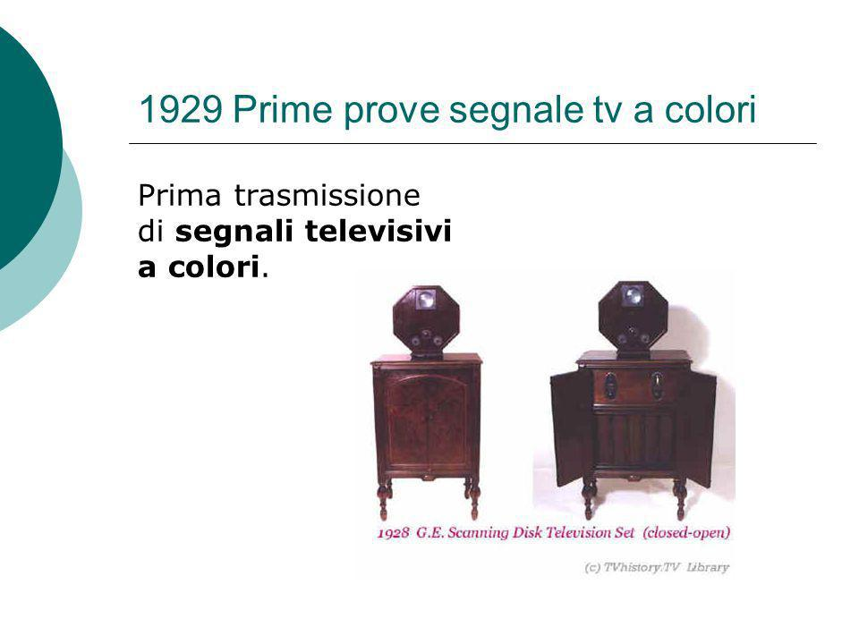 1929 Prime prove segnale tv a colori