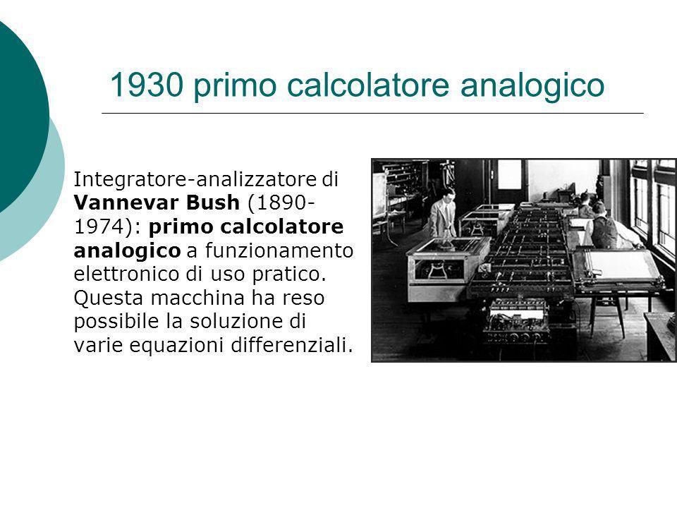 1930 primo calcolatore analogico