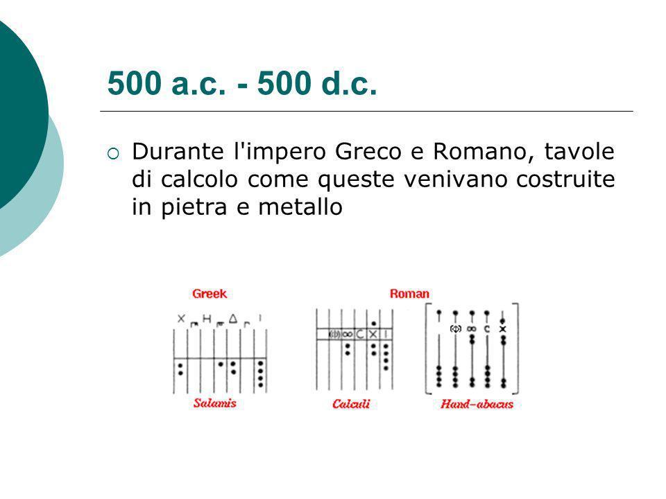 500 a.c. - 500 d.c.