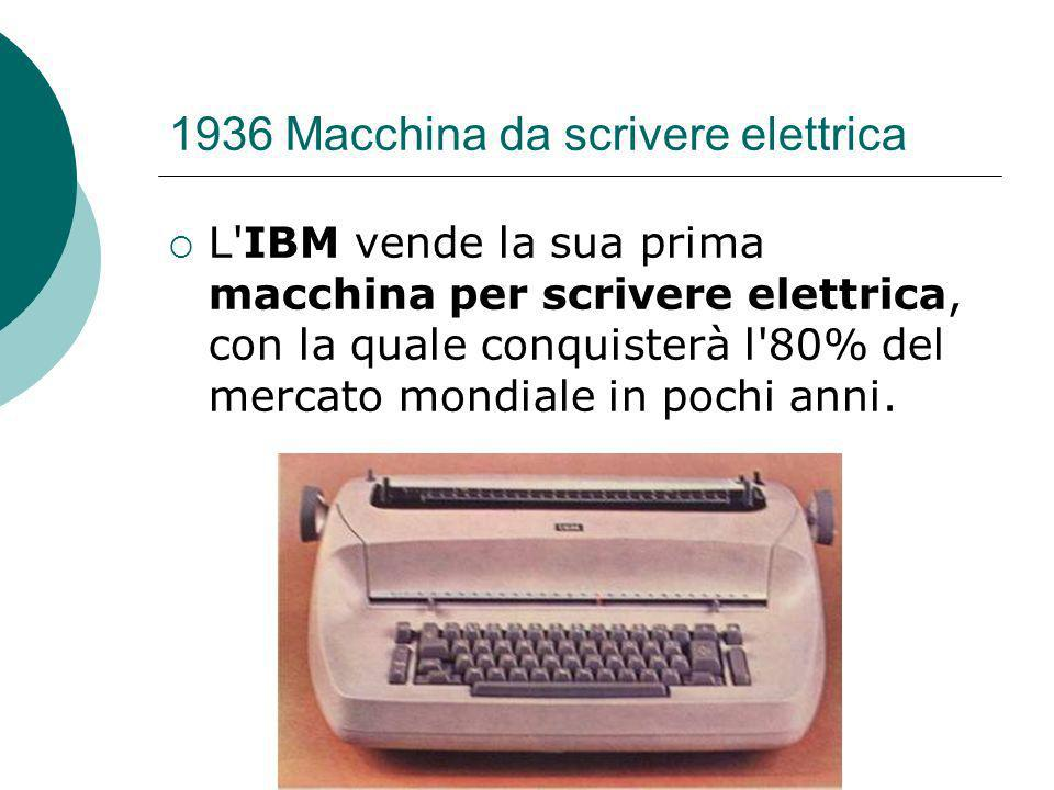 1936 Macchina da scrivere elettrica