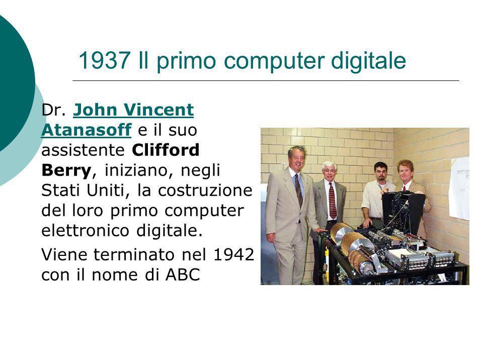 1937 Il primo computer digitale