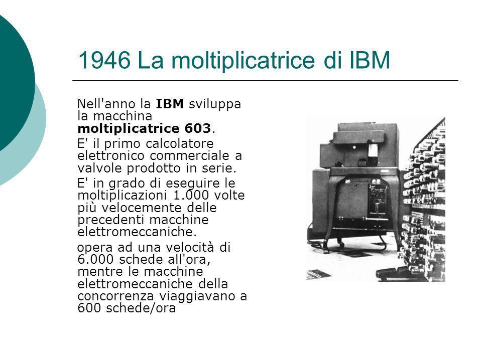 1946 La moltiplicatrice di IBM