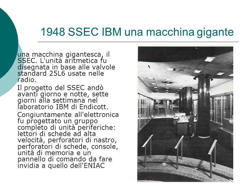 1948 SSEC IBM una macchina gigante