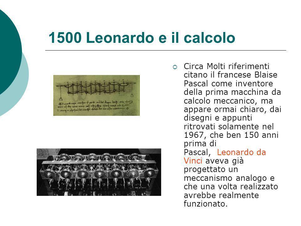 1500 Leonardo e il calcolo