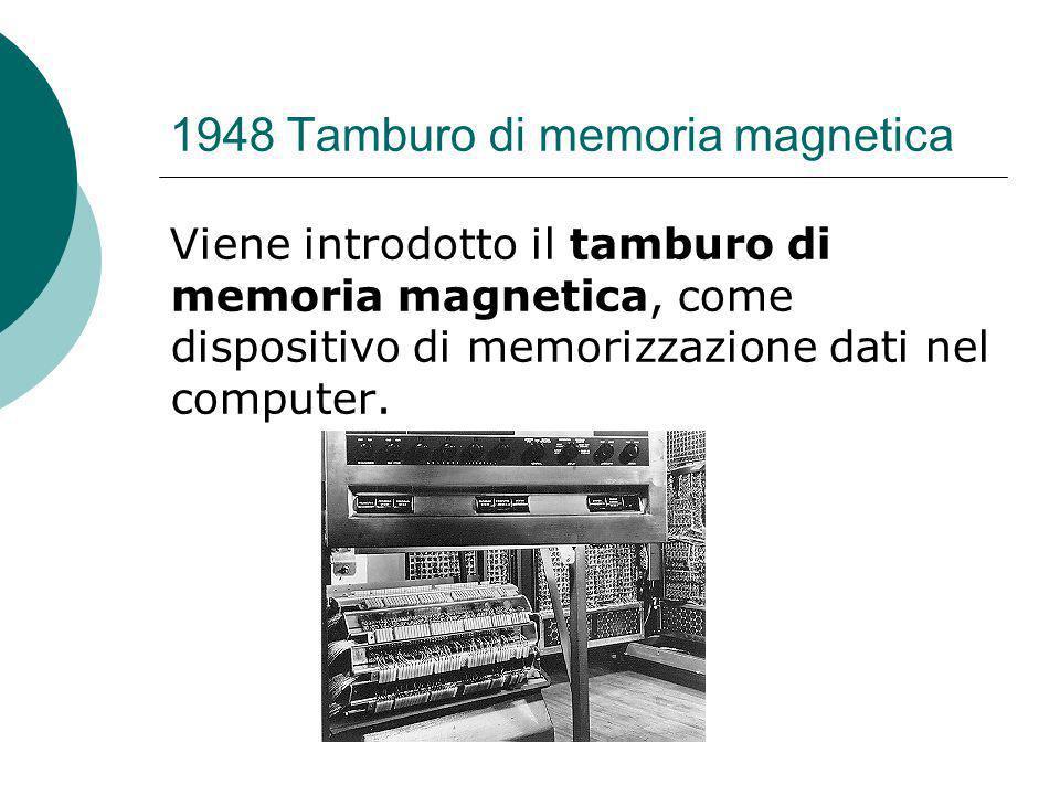 1948 Tamburo di memoria magnetica