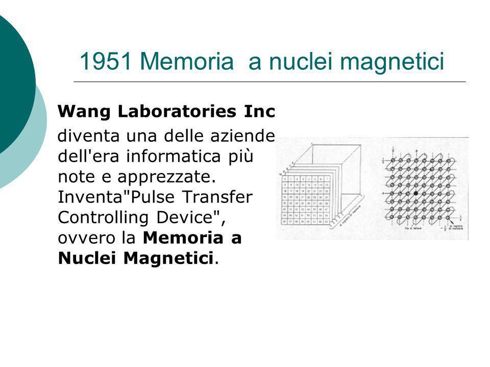 1951 Memoria a nuclei magnetici