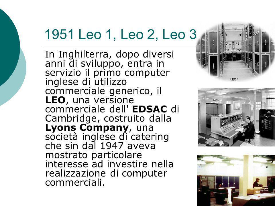 1951 Leo 1, Leo 2, Leo 3