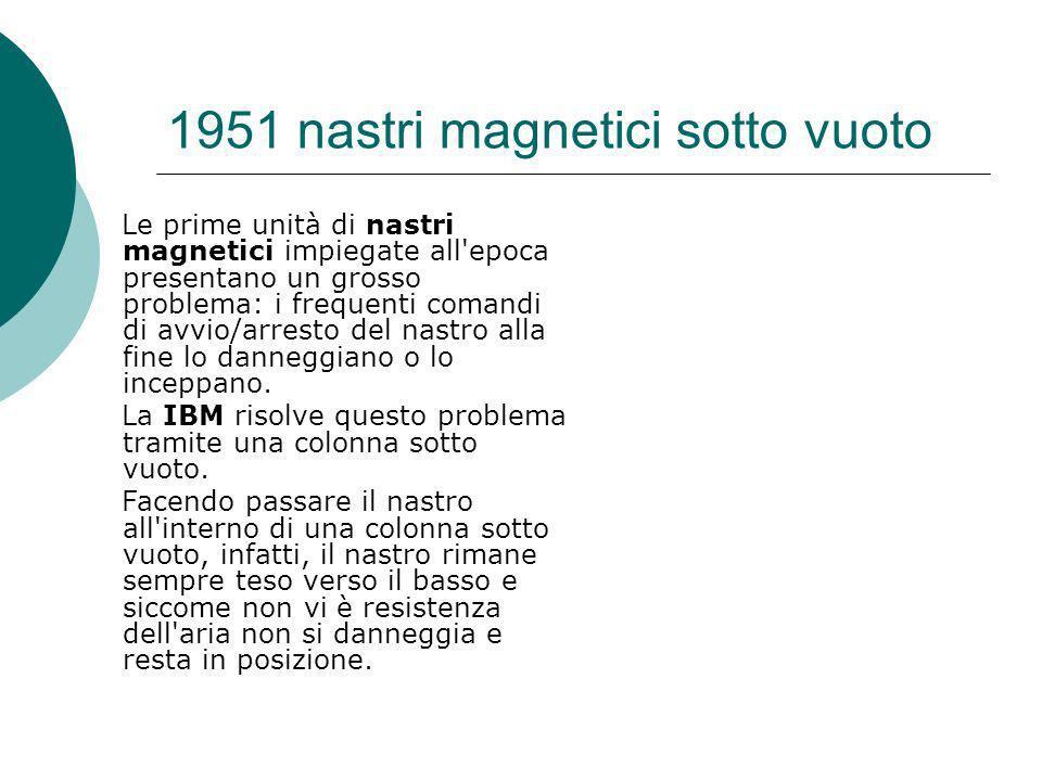 1951 nastri magnetici sotto vuoto